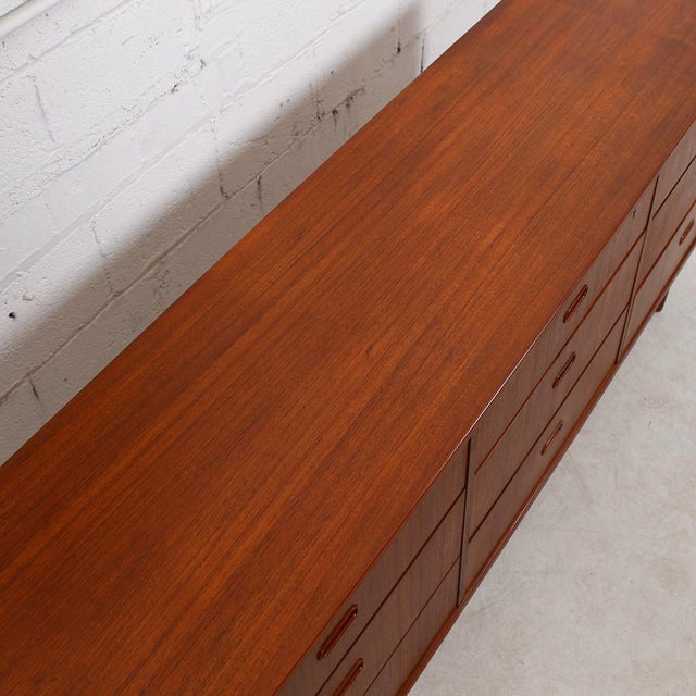 Falster Danish Modern Nine-Drawer Teak Dresser - Image 4 of 10