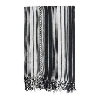 Guatemalan Black Striped Blanket