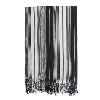 Guatemalan Black Striped Blanket