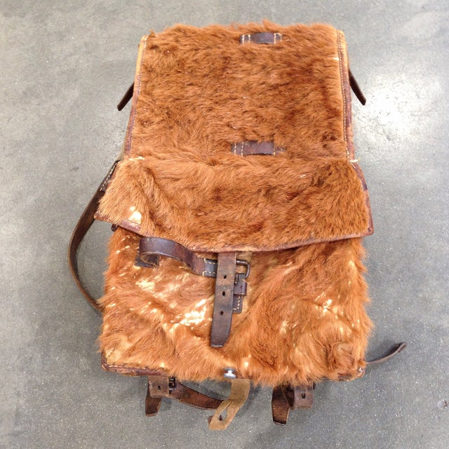 Austrian Leather & Reindeer Skin Backpack - Image 2 of 7