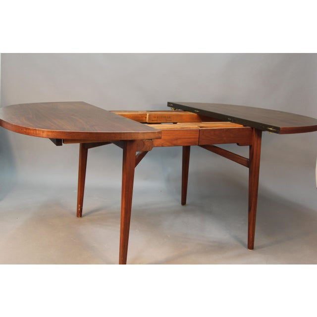 Jens Risom Floating Dining Room Table Expandable  Chairish
