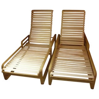Mid-Century Modern Tropitone Chaise Lounges - Pair