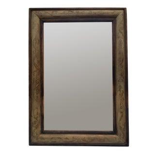 Antique Gray & Black Papier Mache Mirror