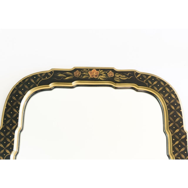 Black Lacquered Chinoiserie Chippendale Mirror - Image 2 of 8