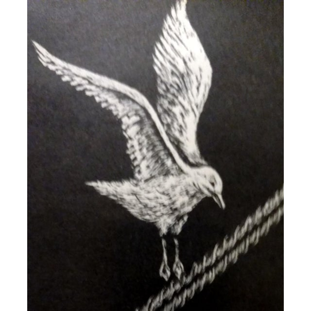 "Jane Heckett ""Seagulls"" Knife Etching - Image 3 of 9"