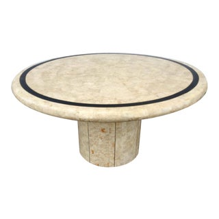 Vintage Tessellated Stone & Brass Table