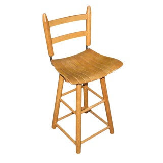 Swivel Bentwood Kitchen Stool