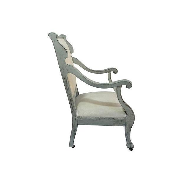 Image of 1920s Scrolled Arm Chair