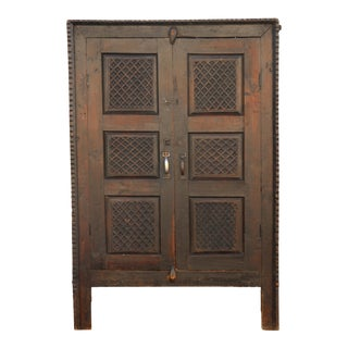 Antique Indian Tall Cabinet