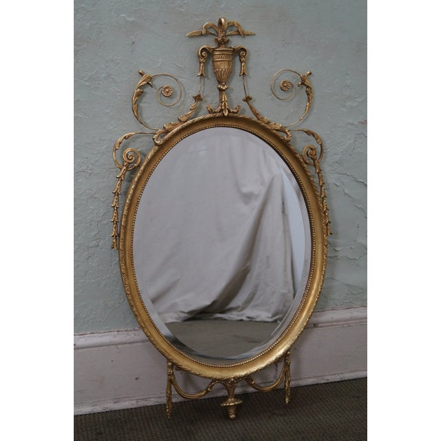 Friedman brothers gold gilt adams style beveled wall for Adam style mirror