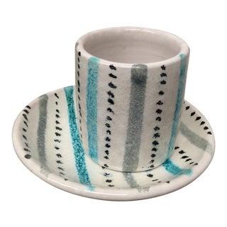 Mid-Century Bitossi Cup & Saucer