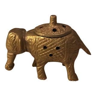 Brass Elephant Incense Holder