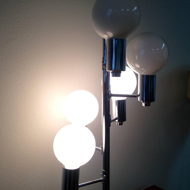Image of Mid-Century Modern 5 Light Chrome Table Lamp