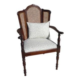 Vintage Oak/Cane Arm Chair