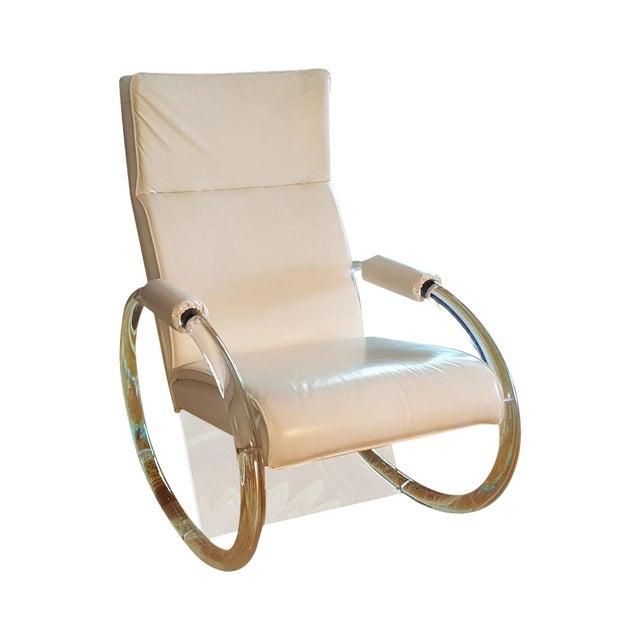 Charles Hollis Jones Vintage Lucite Rocking Chair - Image 1 of 8