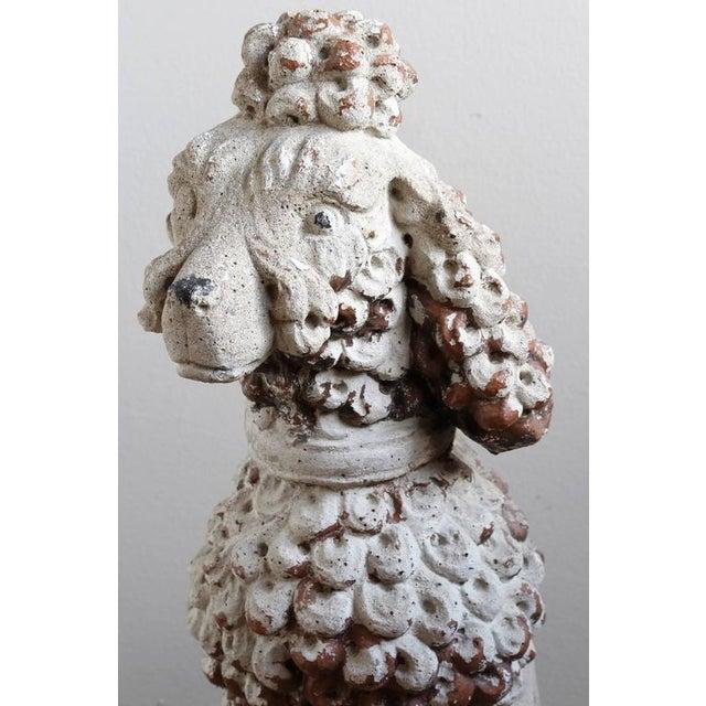 Large Cast Stone French Poodle - Image 7 of 9