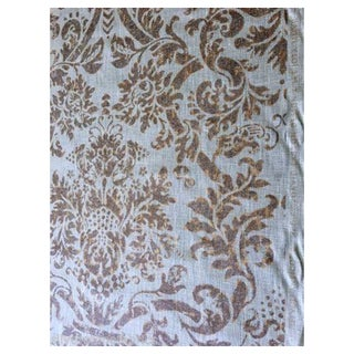 Lee Jofa Antico Linen Damask Aqua