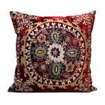 Image of Vintage Velvet Bohemian Pillow With Silk Thread