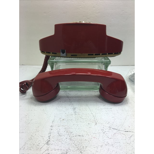 Vintage Red Princess Rotary Dial Telephone - Image 9 of 11
