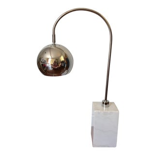 Curved Chrome Waterfall Desk Lamp