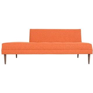"Mid-Century Style ""Ambassador"" Sofa in Tangerine"