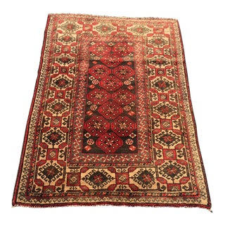 "Vintage Persian Malayer Rug- 2'9"" x 4'4"""
