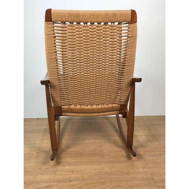 Mid-Century Wegner Style Rocking Chair - Image 3 of 6