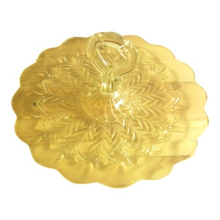 Jeannette Glass Feather Serving Tray