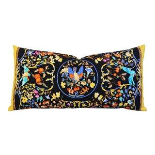 Custom Tailored Hermes Annie Faivre Silk Bird Pillow