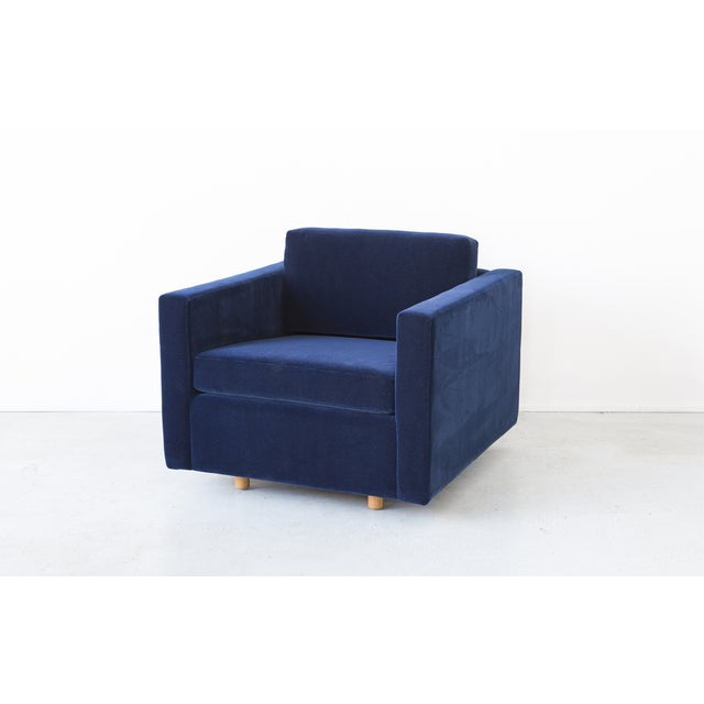 Jack Cartwright Blue Mohair Cube Chairs - Pair - Image 7 of 11