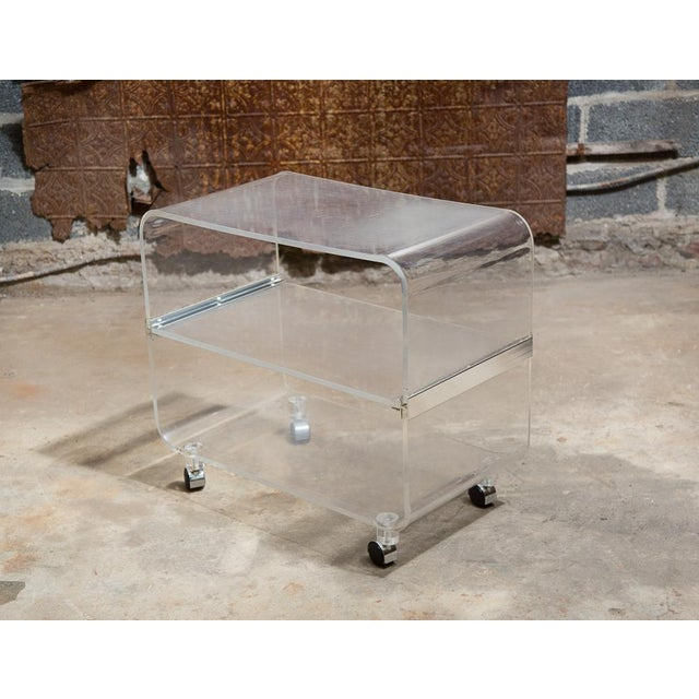 Lucite Bar Cart - Image 2 of 9