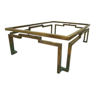 Arturo Pani Rectangular Coffee Table in Brass