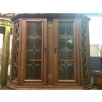Image of Austrian Hand-Carved Antique China Cabinet