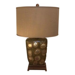Green Enameled Lamp