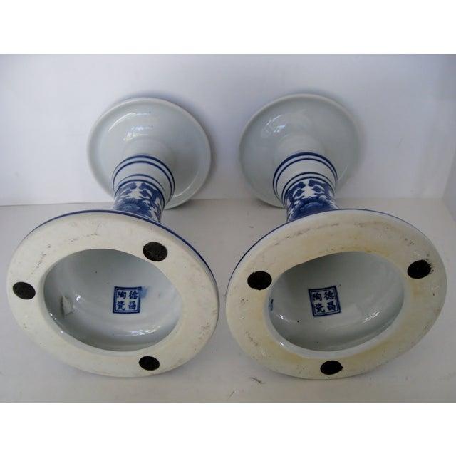 Oversize Porcelain Candlesticks - a Pair - Image 5 of 5