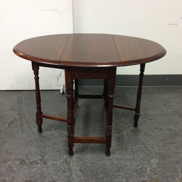 Vintage Convertible Occasional Table - Image 2 of 10