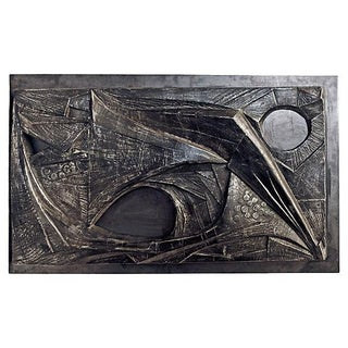 Vintage Modern Signed Wall Sculpture