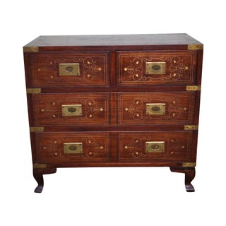 Quality Campaign Mid. Eastern Brass Inlaid Chest