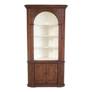 Stanley Newport Style Pine Corner Cupboard Cabinet