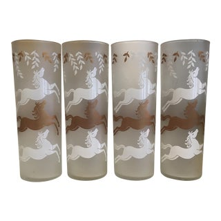 Vintage Horse Glasses - Set of 4