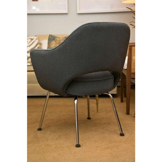 Image of Saarinen Executive Armchair, Vintage Knoll Charcoal