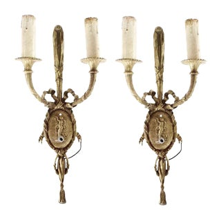 French Figural Sconces - A Pair