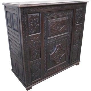 French Oak Antique Sideboard Server Vestry Cupboard