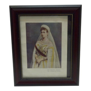 "Vintage ""Her Imperial Majesty: Empress of Russia"" Print"