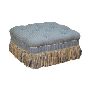 Hancock & Moore Square Tufted Upholstered Ottoman