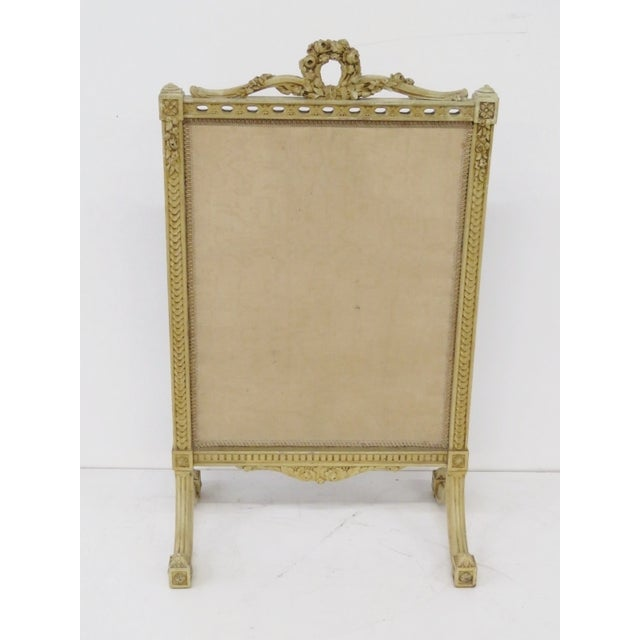 Floral Needlepoint Fire Screen - Image 6 of 6