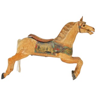 Herschell-Spillman Wooden Polychrome Decorated Carousel Horse