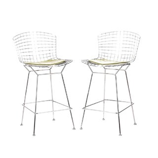 DWR Knoll Bertoia Counter Height Stools - A Pair