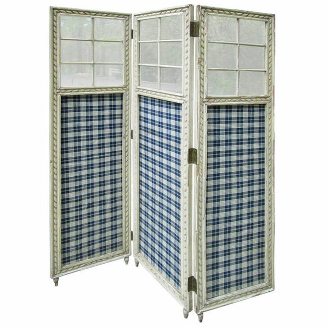 Farmhouse 3 Panel Screen Room Divider - Image 1 of 6
