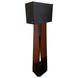 Black Pablo Tube Top Acrylic Floor Lamp